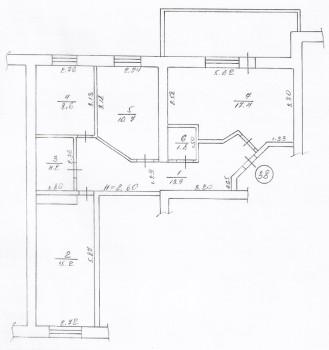 План квартиры в соответствии с техпаспортом