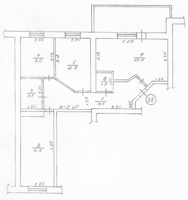 План квартиры в соответствии с